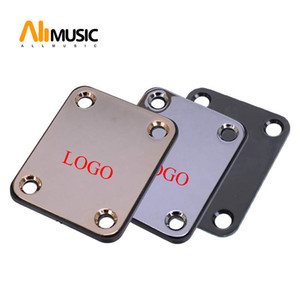 3 Colors Electric Bass Guitar Neck Plate with Logo Guitar Neck Joint Connecting Strengthen Plate