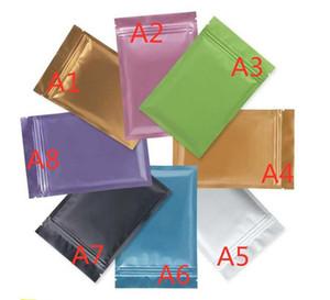 Sacs en plastique de sac de fermeture à glissière durable en aluminium de sac scellé écologique pour le stockage à long terme de nourriture 100pcs une couleur