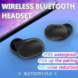 A6S 방수 블루투스 헤드셋에 대한 redmi airdots TWS 이어폰 스테레오 무선 액티브 노이즈 H에 대한 취소와 마이크 핸즈프리 이어폰