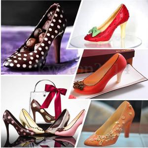 Eco Friendly bricolage haut talon chaussures en polycarbonate PC chocolat bonbons moule Bundle moule de moulage 3D