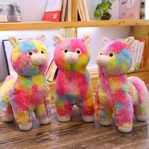 Tik Tok arcobaleno caldo bambola alpaca cammello peluche bambola bambini farciti peluche bambola regali per la festa di compleanno