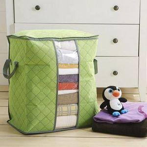 Quilt-Kleidung-Speicher-Beutel Thick Vlies Tragbarer Kleiderschrank Veranstalter Speichern Raum Folding Anti-Staub-Beutel-Kasten für Kissen Blanket B EEA1410
