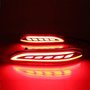 ضوء سيارة العاكس LED الخلفية الضباب مصباح الوفير الضوء ضوء الفرامل بدوره إشارة لهوندا سيتي غريس 2015 2016