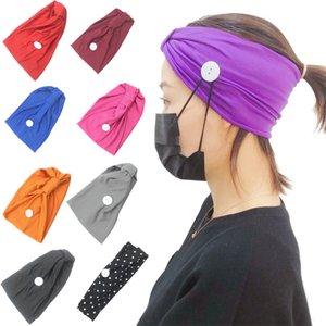 9 renk Yüz earloop Yüz Maskesi Kulak Toka Elastik saç bandı Kulak İpi Tutucu Spor Düğme bandanalar JJ355 ile saç bandı hairband Maske