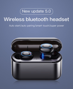 TWS 5.0 sem fio Bluetooth A2 fone de ouvido em fones de ouvido fone de ouvido à prova d'água sem fio com fones de ouvido microfone viva-voz para telefones