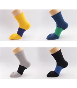 Brearhable Mens Designer Socks Chaussettes de Compression Sport Printemps Été Doux Hommes Cinq Chaussettes Toe