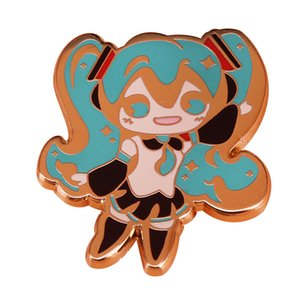 badge Vocaloid everyone's favorite digital diva pin super cute and shiny decor