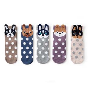 Cute Dog Patterned Cotton Women Cartoon Pug Divertente calzini femminiliWinter Animal Socks Kawaii Socks Hipster Sox