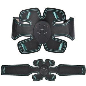 Ccsme del músculo abdominal del ABS estimulador de tóner entrenador de la cintura del cuerpo que adelgaza masaje Shaper Cinturón equipo de la aptitud con la caja al por menor