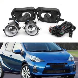 Areyourshop Araç Çifti Ön Tampon Sis Lambaları Kiti Fit 2012 2013 2014 Toyota Prius C / Aqua Araç Oto Aksesuarları Parçaları