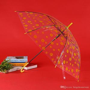 Semi-automatique Rainproof coupe-vent 8 Parapluies os Deux styles Transparent points parapluie Motif poignée long Parapluies Hommes Femmes BH0993 TQQ