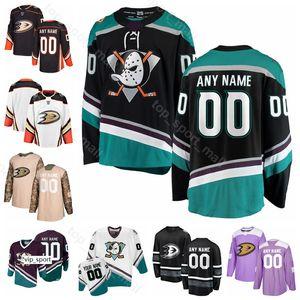 Hombres Niños Mujeres Hockey sobre hielo Adam Henrique Jersey Anaheim Ducks Jakob Silfverberg Rickard Rakell Nick Ritchie Hampus Lindholm Mighty Purple