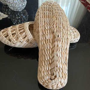 natura shoes women's straw slippers new couple shoes handmade Chinese style comfortable sandals summer fashion unisex home