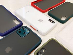 Couleur de la peau givré silicone souple téléphone pour l'iphone 11 Pro 5.8 6.1 Pro max 6.5 pour Samsung A10S A20S A30S A40S A90 (5G) M30S A20E Note 5
