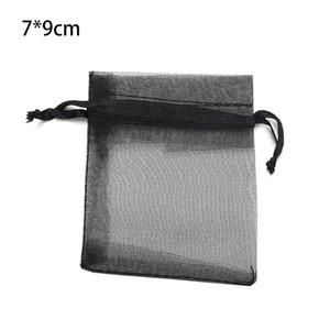 Organza Sac de 100pcs / lot solide Clor mariage Pouches de Nice cadeau Sac Bijoux transparent Emballage Gaze pochette de rangement