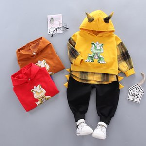 Baby Boys Clothing Set Toddler Clothes Autumn Winter Children's Casual Cartoon Dinosaur Hooded Sweatshirt Pants 1 2 3 4 Years