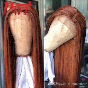 Brown Human Hair Full Lace Wigs Straight Brazilian Remy Hair Middle Part Glueless Wig With Baby Hair