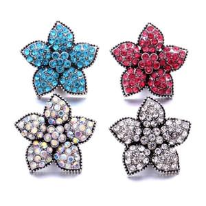 Noosa 18mm flor de jengibre Snap Snap Rhinestone joyería de bricolaje collar accesorios Finding
