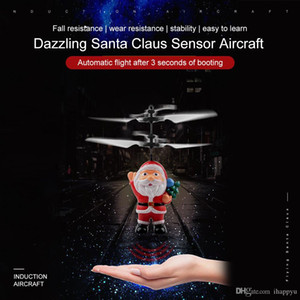 2019 Hot Flying Inductive Mini RC Drone Christmas Santa Claus Induction Aircraft RC Helicopter for Kids Christmas Gifts