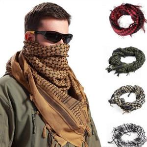 Shemagh Keffiyeh мусульманских шарфы армии Tactical Arab Scarf Открытого ветрозащитного шаль Охота Пейнтбол головного платок сетка сторона пустыня BandanasD6137