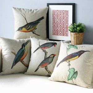 American Country Campagna cuscino, uccelli Cuscino cuscino, federa, cuscino del divano di casa Cuscini decorativi