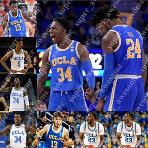 UCLA Bruins Basketball Jersey Jake Kyman Dodson Russell Stong Isaac Wulff vacances 2 Ball 0 Westbrook 42 Amour 33 Abdul-Jabbar