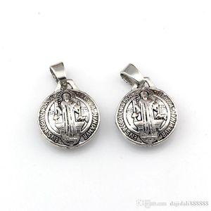 50pcs lotes medalha 3D Bento Michael Dangle encanto Beads Fit pingente de colar Jóias DIY presente de Natal 17.5x26.5mm A-563a