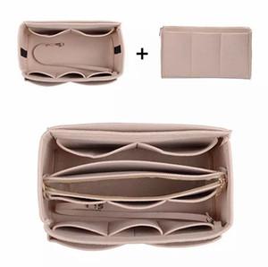 Hiçbir kapatma Totes için Çanta uçlar satılık Fermuar Çantası organizatörlere Tasarımcı çanta Çanta Eklemeler için Çanta organizatörleri Keçe