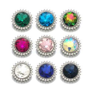 Mode Composant w269 Cristal 3D 18mm Bouton Métal Pour Bracelet Collier Interchangeable Bijoux femmes Résultats Accessoir