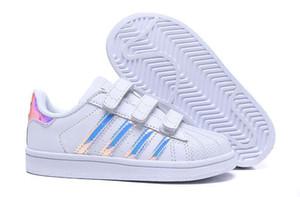Adidas  Superstar Bambini di marca Superstar scarpe Original White Gold bambino bambini Superstars Sneakers Originals Super Star ragazze ragazzi bambini scarpe da skateboard 24-35