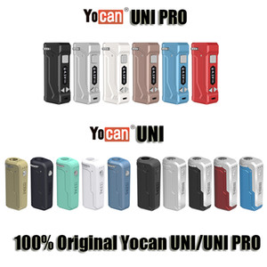 Originale Yocan UNI Pro Vape Box Mod Kit 650mA Preriscaldare variabile VV 2.0V 4.2V Batteria E Cigarette Vape Pen misura tutti Vape Cartridge Disponibile