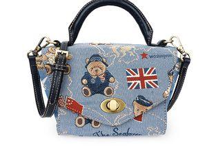 2019 nueva moda Danny oso portátil bolsa de mensajero bolsos dulce casual bolsa ocio náutico oso bolsa de tela
