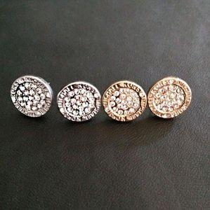 Свадебные серьги для женщин круглого драгоценного камня кристалл шпилек Золота Серебра гальванической серьга женщин серьгой уха кольцо леди серьга девушка шпилька ювелирных изделий