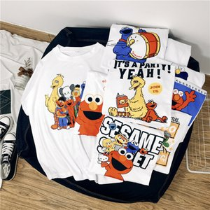 Kaws T-shirts ins 10 Modèles Chemises Kaws Uniqlo Coton Unisexe T-shirt Kaws Sesame Street Cartoon Haut Vêtements