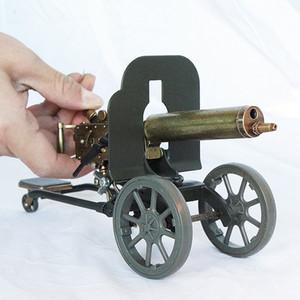 마크 무거운 기관총 모델 라이터 불꽃 리필 부탄 무딘 풍선 라이터 군사 취미 컬렉션 남성 선물이 있어야합니다