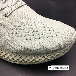 Hot Sale- Futurecraft Alphaedge 4D LTD Aero Ash Print Green BD7400 Kicks Men Running Sports Shoes Sneakers Trainers With Original
