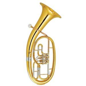Brass 3 válvulas barítono Bb Key plata plateado con el caso ABS y la boquilla instrumentos musicales al por mayor