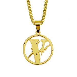 New Gold catena d'argento di Hiphop fuori ghiacciato del pendente degli uomini delle donne monili collana fulmine collana di Hip Hop