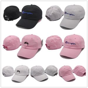 Campeones de bordado de alta calidad Visera curva Casquette sombreros Snapback Cap Deporte Sombrero Campeón Ocio Protector solar Caps ajustables