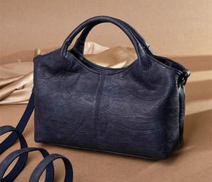 Lüks Kadın Basit Taşınabilir Çanta Büyük kapasiteli Tek omuz Çantası Bayanlar Casual Seyahat Deri Crossbody Çanta handbags