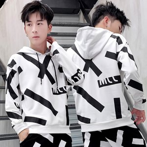 Hong Kong Style CHIC Spring And Autumn Hoodie Men's Hooded Trend Korean-style Loose-Fit INS Super Fire Tops Students Popular Bra