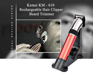 Kemei 610 elettrico del regolatore dei capelli KM-610 chjpro Cutter trimmer barba trimmer ricaricabile lavabile