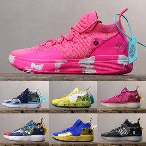 2019 Yeni KD 11 Teyze Inci ayakkabı ile satılık Kutusu yeni Kevin Durant 11 Basketbol ayakkabı ücretsiz kargo