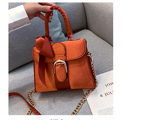 HBP Velvet Bag Autumn 2020 Newset Women's Bag Ladies Shoulder Bag Fashion Bow Velvet Handbag