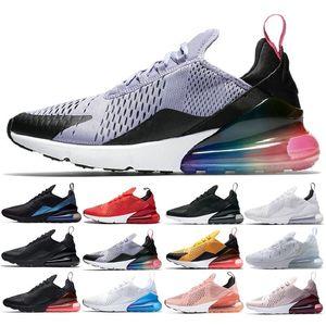 Nike air max 270 airmax air270 2018 Authentic Superstars 80S Mans sapatos femininos 100% Smith Classic sapatos de skate branco em couro genuíno Gold Black Running Shoe