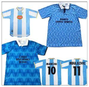 Jersey de football rétro Lazio 89 91 Latio Inzaghi Immobile Stam Sergej Lulic Luis Alberto Football Chemises 1999 00 Calcio Favalli Boksic Salas