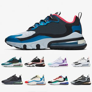 Nike Air max 270 react shoes airmax react 270 mens running shoes Bleached Coral Dusk Purple Grey and Orange In My Feels Bauhaus triple black men women Outdoor sports sneakers