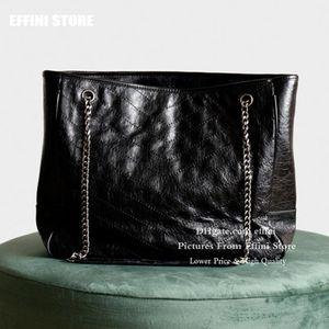 Большие женщины сумки Tote сумки Корзина плеча сумки Сумочки из натуральной кожи Новая мода 2020 Черный Большой ватные мешки посыльного