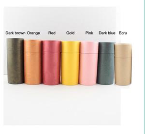 Tubo redondo Caja de cartón del papel de Kraft Caja de cartón para la botella de aceite esencial Embalaje de regalo 50pcs 10ml / 20ml / 30ml / 50ml / 100ml