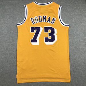 Mens de las camisas de deportes de la vendimia Dennis Rodman Jersey Kareem Abdul-Jabbar, Shaquille O'Neal 34 Wilt Chamberlain # 13 Ropa de deporte Jersey cosido